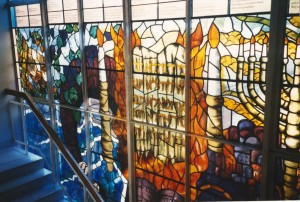 commemorative window (hendon reform synagogue), a collaborative project with Michele Hoffner
